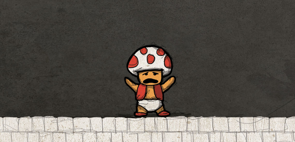 Toad from Mario 1 Retro Video Game Comic Preview