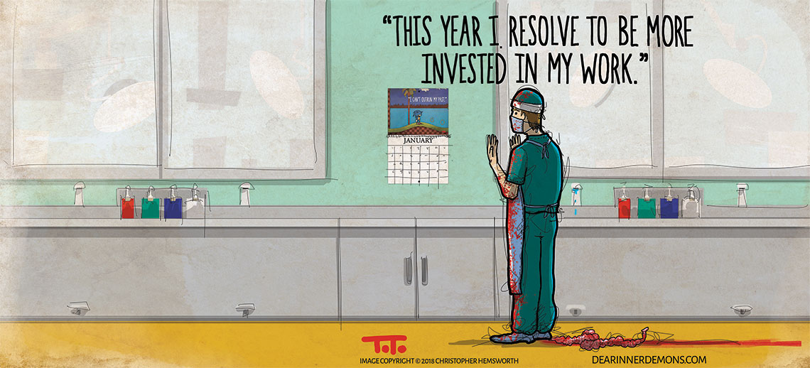 This year I resolve to be more invested in my work.